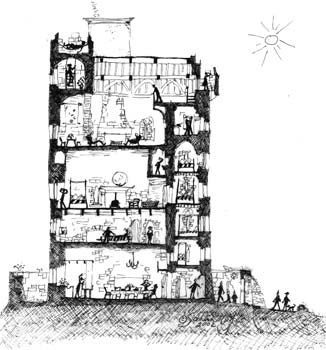 Ballyportry castle the 15th century gaelic tower house for Tower house plans